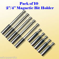 "10x 2""/4"" Magnetic Bit Extension Holder Quick Change 1/4"" Hex Shank Screw"