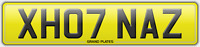 XH07 NAZ REGISTRATION NAZEEM NUMBER PLATE X HOT NAZZ ASSIGNED 4U NAZZY UK NAZIM