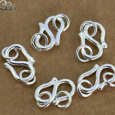 """12mm S925 Sterling Silver DIY """"S""""  Hook Ring Jewelry Connector Findings Clasp"""