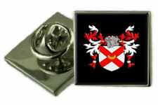 Yale England Family Crest Coat Of Arms Lapel Pin Badge Engraved Gift Case
