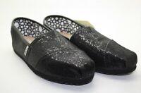 Toms Classic Women's Black Glitter Flats Slip-on Shoes