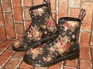Dr. Martens 1460 VICTORIAN FLOWERS floral canvas boots uk 7 eu 41 us 9 Doc#499