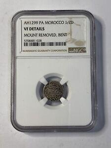 MOROCCO 1881(AH1299) 1/2 NGC VF