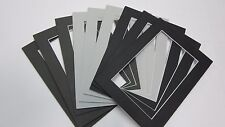 Picture Frame Mat 5x7 for POSTCARD 3 3/8 x 5 3/8  Gray and Black assortment