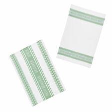 KitchenCraft Jacquard Tea Towels - Jacquard Green