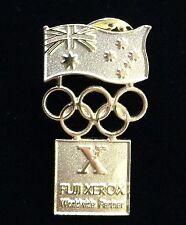 SYDNEY OLYMPIC GAMES 2000 GOLD FUJI XEROX WORLDWIDE PARTNER LOGO PIN BADGE #449