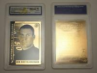 BEN ROETHLISBERGER 2004 Laser Line Gold Card NFL Steelers Graded GEM MINT 10