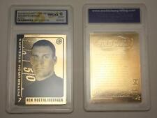 BEN ROETHLISBERGER 2004 Laser Line Gold Card NFL Steelers Graded GEM MINT 10