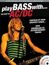 PLAY BASS WITH THE BEST OF AC/DC TAB SHEET MUSIC SONG BOOK W/CD