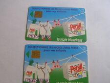 lot 2 télécartes persil micro plus 50u et 120u ref phonecote  F303 et F304