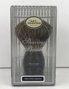 The Art of Shaving 100% Pure Badger Black Full Size Shaving Brush New In Box