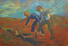 Fine rare post-impressionist painting, signed Vincent van Gogh w COA