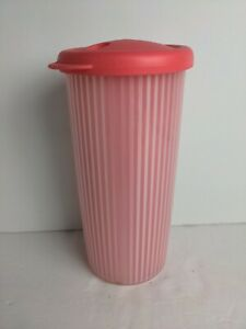 Tupperware Insulated Tumbler Pink w/ Straw Lid 3329A-4 3329A 24 Oz