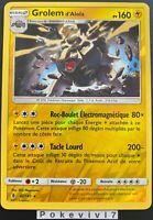 Carte Pokemon GROLEM d'Alola 42/145 Holo REVERSE Soleil et Lune 2 SL2 FR NEUF