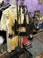 Vintage Mission Arts Crafts  Gothic 5 Light Chandelier Ceiling Hanging Fixture