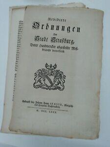 1780.Rev.Ordnungen d.Stadt Straßburg d.Handwercker abgestellteMißbräuche betreff