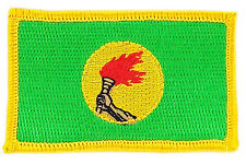FLAG PATCH PATCHES ZAIRE IRON ON COUNTRY EMBROIDERED WORLD SMALL