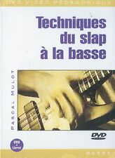 MULOT PASCAL TECHNIQUES DU SLAP A LA BASSE BASS GUITAR MUSIC MUSIQUE DVD FRENCH