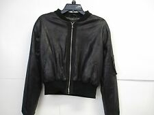 Sold by Design Lab Short Bomber Jacket M Black  New with Tags