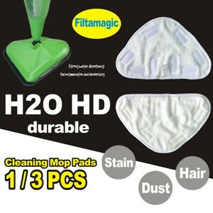1/3X Pads for H20 H2O HD Steam Mop Floor Replacement Microfibre Head