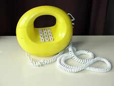 VINTAGE WESTERN ELECTRIC YELLOW!!DONUT SCULPTURA TOUCHTONE TELEPHONE PHONE