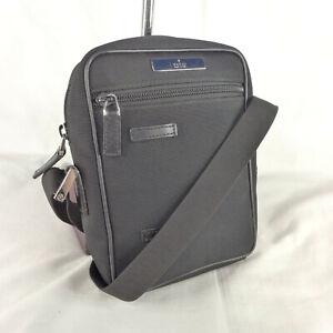 Authentic Vintage Gucci Black Canvas Small Crossbody Messenger Shoulder Bag VGC