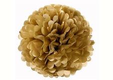 16'' Puff Tissue Paper Balls - Gold 1 Piece