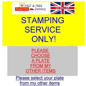 VIN & CHASSIS ID PLATE STAMPING ENGRAVING ETCHING SERVICE ONLY