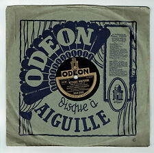 78T BACH & Henry LAVERNE Disque Phonographe ATTAQUE NOCTURNE - ODEON 250200 RARE
