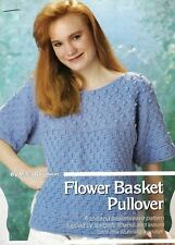 New listing Pretty Flower Basket Pullover/Apparel/Crochet Pattern Instructions Only