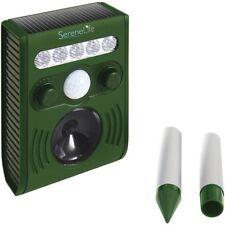 Serene Life AZPSLSAR3 Solar Power Animal Repeller-ultrasonic sound & light flash