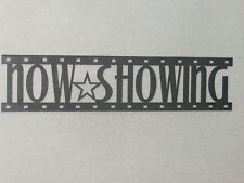 NOW SHOWING Movie Film Strip Wood Wall Words Hanging Sign Art Decor Reel