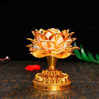 1pc Lotus Lamp Portable Lightweight Practical Buddha Lotus Light for Temple Home
