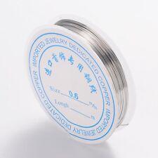 1 x 10 m Roll plaqué argent fil de cuivre 0.6 mm Nickel Libre Bijoux Craft Making