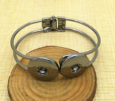 NEW Jewelry Black Round bracelets fit for noosa snaps chunk charm button SFH05