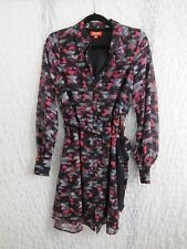Kirna Zabete Womens Multi-Color Shirt Dress Size M Black Gray Pink Orange
