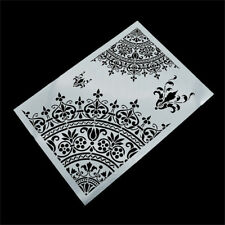 1X Mandala Crown Design Stencils Scrapbooking DIY Hand Craft Making Decor