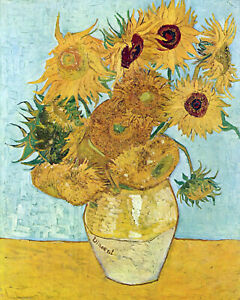 Vincent Van Gogh Sunflowers Framed Print Canvas Vintage Art painting wall decor