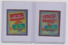 GREAT MOMENTS IN BASEBALL RARE 3-D BASEBALL CARDS - 1988 - RARE SCORE MINI CARDS