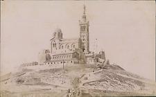 France, Marseille, Basilique Notre-Dame-de-la-Garde, Vue panoramique  Vintage al