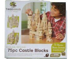 FANTASTIC Treehaus 75pcs Castle Blocks, Solid Wood Blocks, Educational Toys
