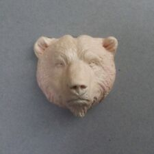 Beautiful Realistic Bear Head Sculpted Handcast Resin Cabochon For Crafts