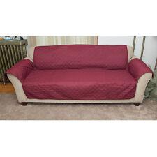 Machine Washable Burgundy/Brown Reversible Furniture Sofa Slipcover