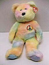 TY Beanie Buddy - PEACE the Ty-Dyed Bear (14 inch) - MWMT's