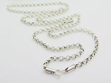 Fine Pure S925 Sterling Silver Men Women 5mm W Cable Chain Necklace/19.7inch