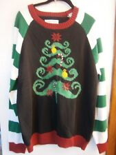 UGLY CHRISTMAS TREE SWEATER MEN'S SIZE XL