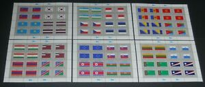 United Nations 1997-99 3 sets of Flag sheetlets VF NH