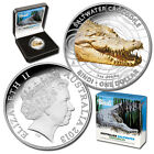 2013 $1 Australian Saltwater Crocodiles Bindi Coloured 1oz Silver Proof Coin