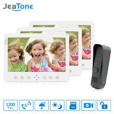 7 inch Color Video Doorbell Intercom Monitor&1200TVL Outdoor Panel Door Phone