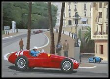 Canvas print 1955 Grand Prix of Monaco by Toon Nagtegaal (LEF)